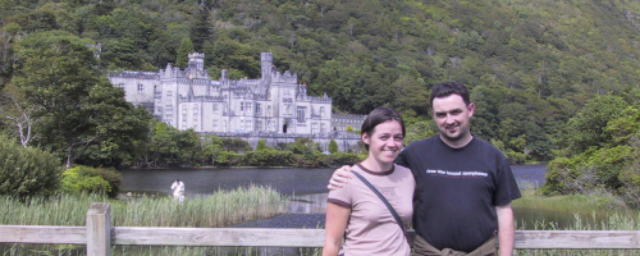 Erin and me, at Kylemore Abbey